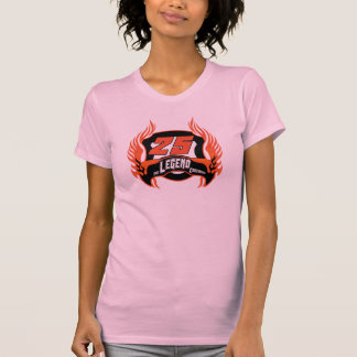 Camiseta Presentes de aniversário da legenda os 25os