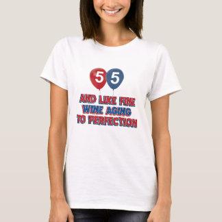 Camiseta Presentes de aniversário das pessoas de 55 anos