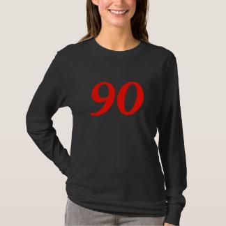 Camiseta presentes de aniversário do 90