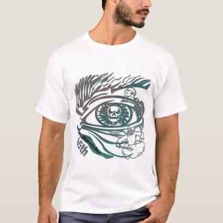 Camiseta Presentes de aniversário do olho do crânio 65th
