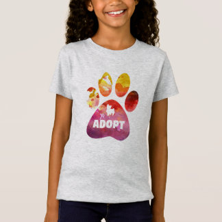 Camiseta Presentes do amante do cão. Adote. Pata dos cães,