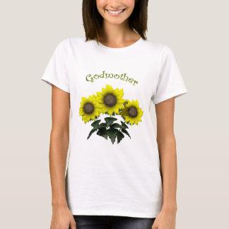 Camiseta Presentes do dia das mães da madrinha do girassol
