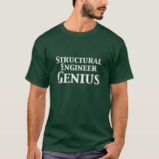 Camiseta Presentes do gênio do engenheiro estrutural