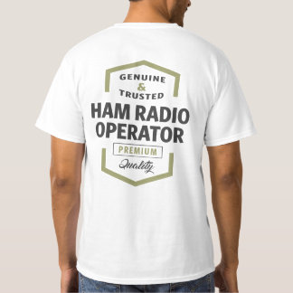 Camiseta Presentes do logotipo do operador de radioamador
