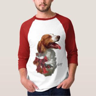 Camiseta Presentes do Natal do Spaniel de Brittany