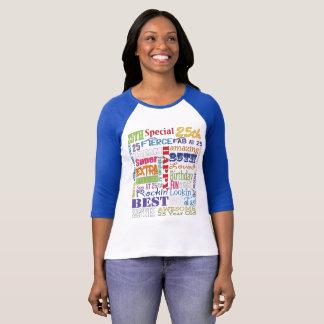 Camiseta Presentes originais e do Special 25os da festa de