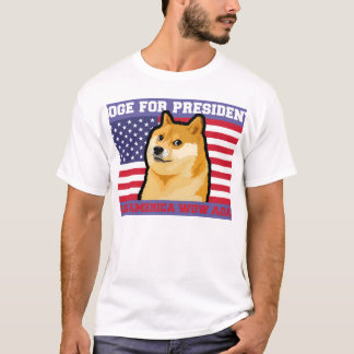 Camiseta Presidente do Doge - doge cão-bonito do
