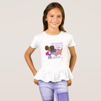 Camiseta Presidente futuro T-shirt do plissado das meninas