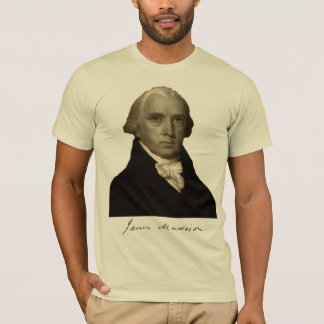 Camiseta presidente James Madison com assinatura