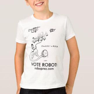 Camiseta Presidente T-shirt do robô dos miúdos
