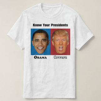 Camiseta Presidentes Obama Trunfo Covfefe - anti trunfo