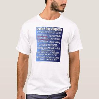 Camiseta Preste serviços de manutenção à etiqueta do cão -