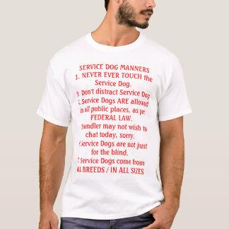 Camiseta Preste serviços de manutenção a maneiras do cão