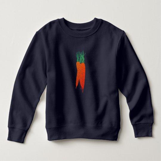 camiseta preta cenouras