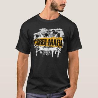 Camiseta Preto & amarelo da bandeira da máfia do Corgi