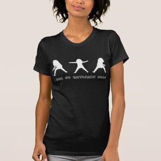 Camiseta Preto/branco diários do vintage da afirmação de