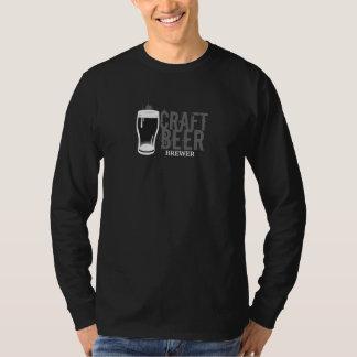 Camiseta Preto & branco do cervejeiro da cerveja do