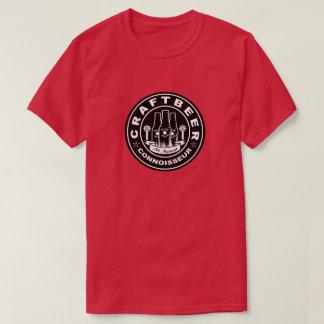 Camiseta Preto & branco do perito da cerveja do artesanato