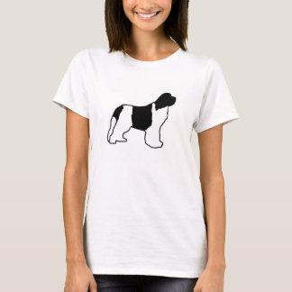 Camiseta preto branco do silo do newfie