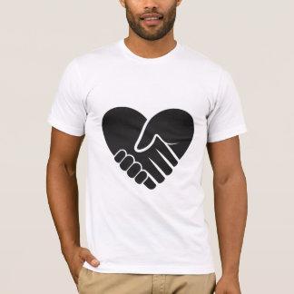 Camiseta Preto conectado amor