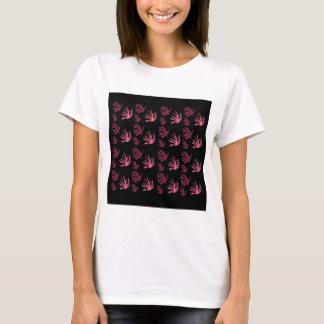Camiseta Preto cor-de-rosa das algas