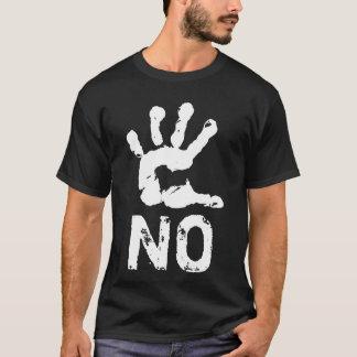 Camiseta Preto customizável elegante NÃO engraçado