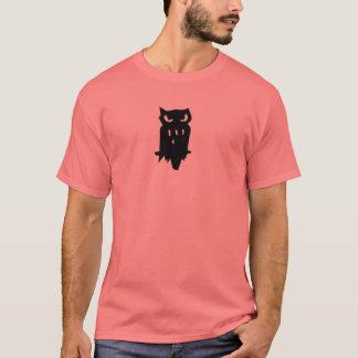 Camiseta Preto da coruja do empréstimo da buzina da equipe