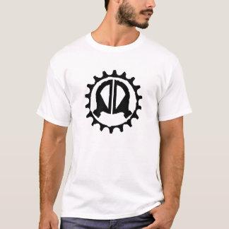 Camiseta Preto da engrenagem do logotipo de DV