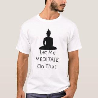 Camiseta Preto da meditação de Buddha