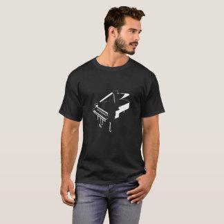 Camiseta Preto da silhueta do piano