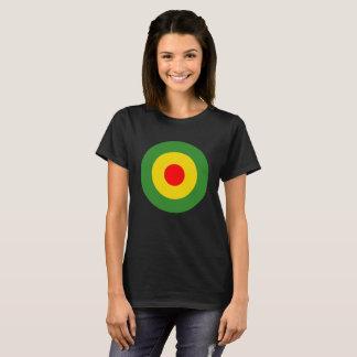 Camiseta Preto das senhoras do roundel da reggae