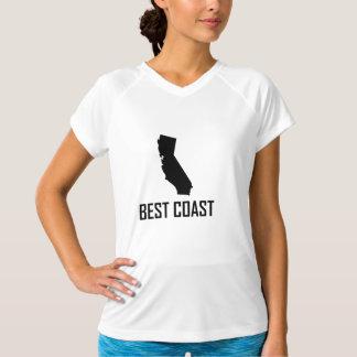 Camiseta Preto de Califórnia da costa oeste o melhor