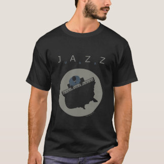 Camiseta preto de jazz.usa