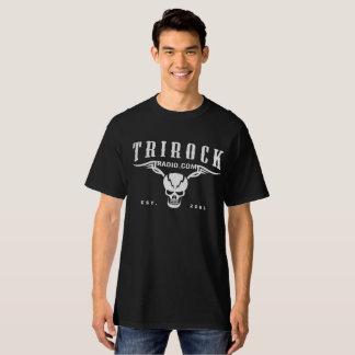Camiseta Preto de rádio dos ganhos do Tri Rock (t-shirt) -