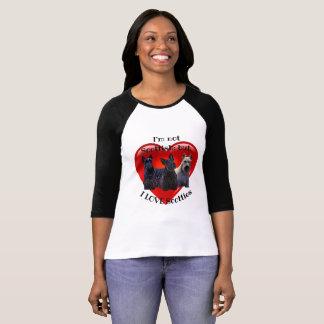 Camiseta Preto de Terrier do Scottish/wheaten, assento/que