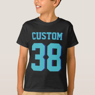 Camiseta Preto & design do jérsei dos esportes dos miúdos  