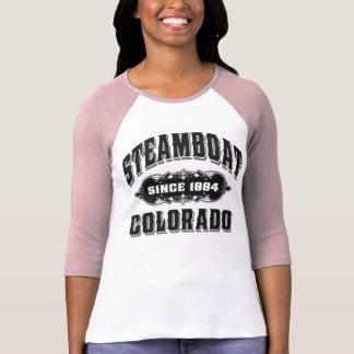 Camiseta Preto do barco a vapor desde 1884