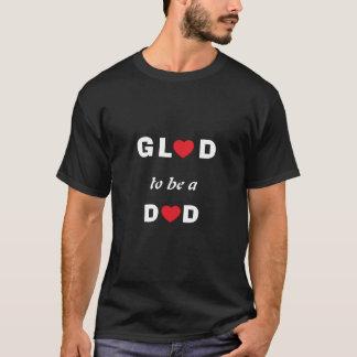 Camiseta preto do Contente-à-estar-um-Pai do