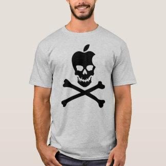 Camiseta PRETO do crânio & dos Crossbones de Apple