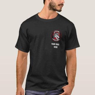 Camiseta Preto do lobo solitário da equipe