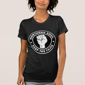 Camiseta preto do norte do logotipo da alma
