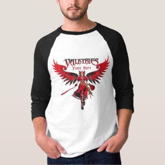 Camiseta Preto do Raglan de Valkyries