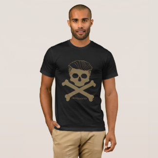 Camiseta Preto do t dos homens com logotipo do ouro