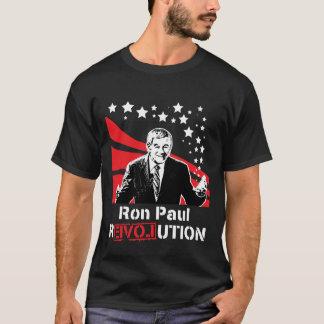 Camiseta Preto do t-shirt da revolução de Ron Paul