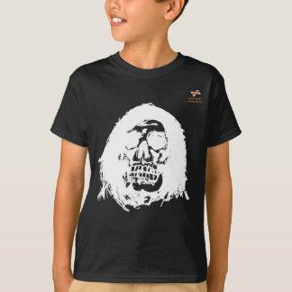 Camiseta Preto do t-shirt das crianças do crânio (meninos)