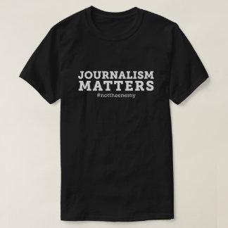 Camiseta Preto do t-shirt das matérias do jornalismo dos