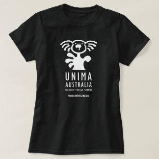Camiseta Preto do t-shirt das mulheres de UNIMA Austrália