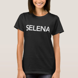 Camiseta Preto do t-shirt de Selena