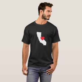 Camiseta Preto do t-shirt | do amor de Califórnia
