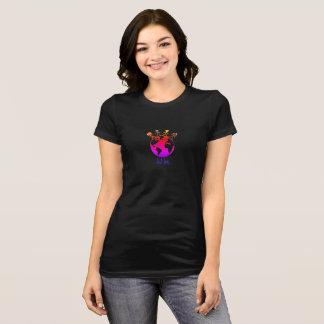 Camiseta Preto do t-shirt do amor de Momma da maratona